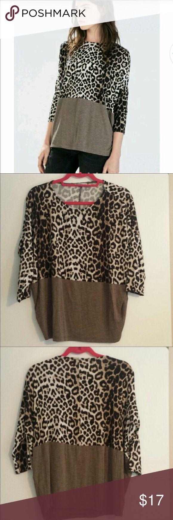 Zara tshirt S Great condition tshirt size Small loose Zara Tops Tees - Long Sleeve
