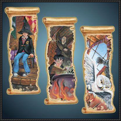 Harry Potter Printable Bookmarks Free Paper Crafts Download | PaperCraftSquare.com