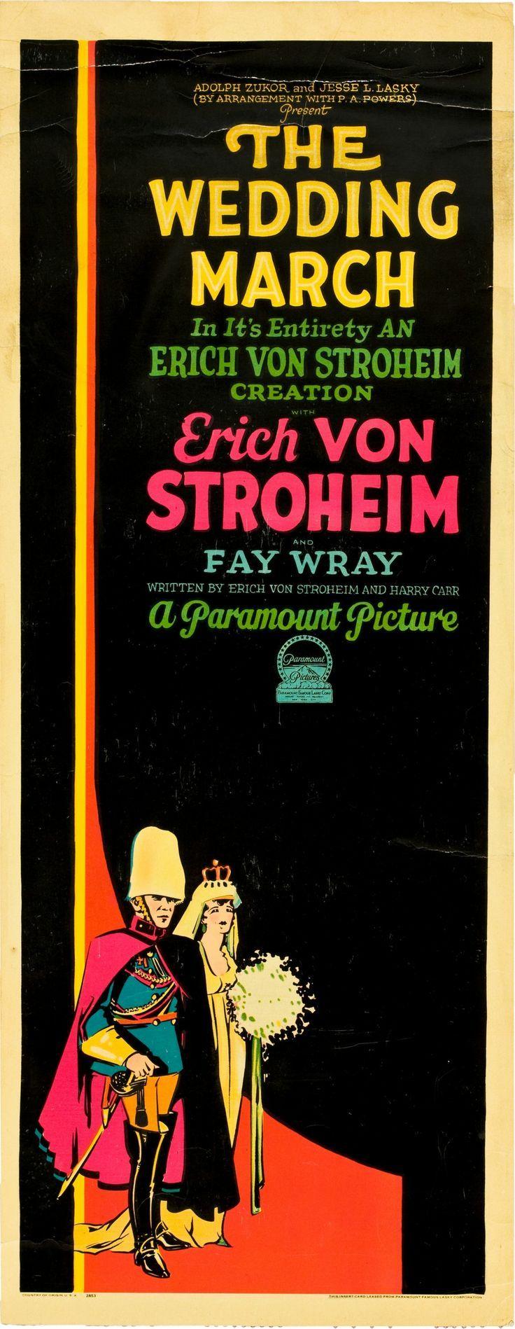 Poster design 1920s - The Wedding March Starring Erich Von Stroheim Fay Wray George Fawcett