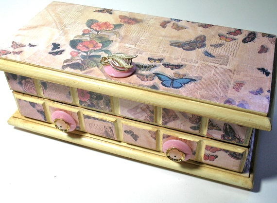 49 best Jewelry Boxes Made Beautiful images on Pinterest Decorated