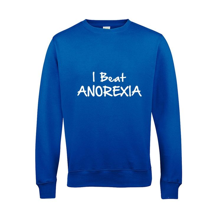 I Beat Anorexia Funny Fat Joke Diet Skinny Sweat Shirts Long sleeves