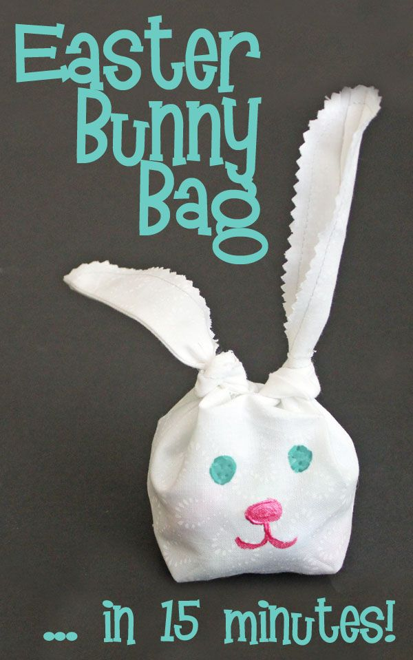 Easter bunny bag in 15 minutes on 30 minute crafts dot com!