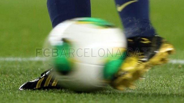 Messi y sus nuevos zapatos Adidas | 2013-01-16 OTRO BARCELONA-MALAGA .