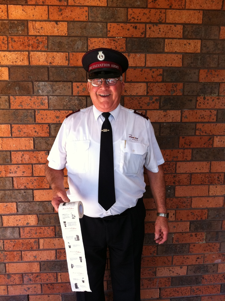 Thomas Hope - Retired Salvo officer, well known and loved by his local Gosford community, where he has been collecting donations at the station and at the pubs for many years.