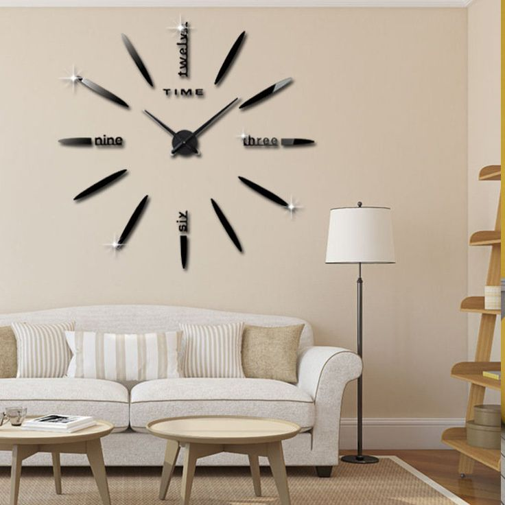 3D Acrylic Creative Wall Clock DIY Living Room Wall Clock Home Decor