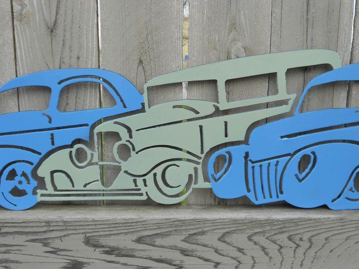 Three Classic Cars Metal Wall Art Metal Art Car