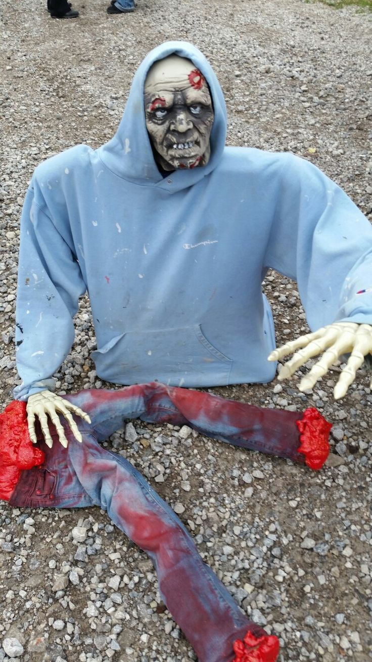 Map Of Usa Zombies%0A Halloween zombie made with PVC pipe  The half body is made with insulation  spray foam