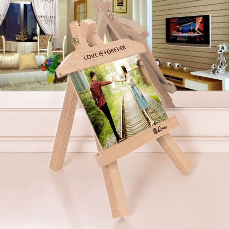 Impression freeze Korean Creative wood frame swing sets 7-inch bracket