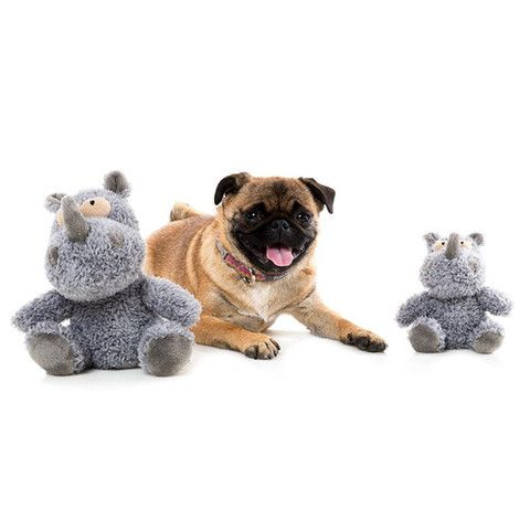 Fuzzyard Charge The Rhino Plush Dog Toy