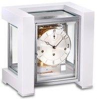 1266-95-03 Contemporary White Mantel Clock by Kieninger