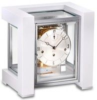 1266-95-03 Contemporary White Mantel Clock by Kieninger