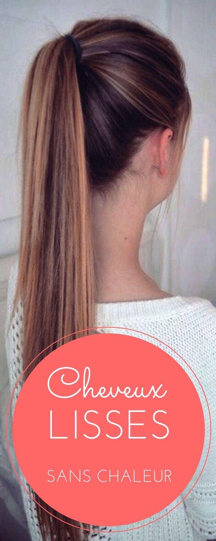 Voilà la meilleure façon de lisser ses cheveux sans fer ni