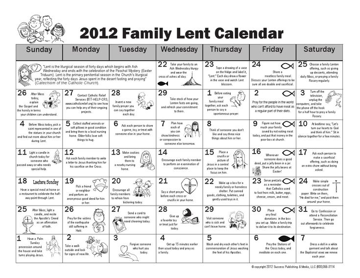 Some great family activities for Lent