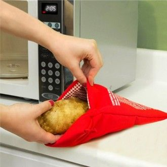 Cu punga de copt cartofi pentru microunde veti avea cartofii mult doriti in aproximativ 4 minute!