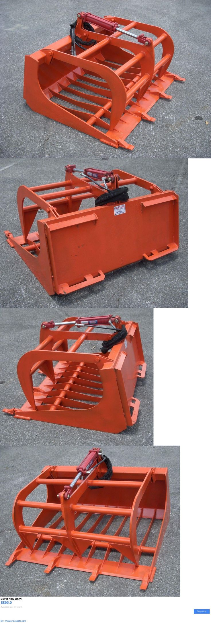 heavy equipment: Kubota Compact Tractor Loader Attachment - 48 Rock Bucket Grapple - Free Ship!! BUY IT NOW ONLY: $895.0 #priceabateheavyequipment OR #priceabate