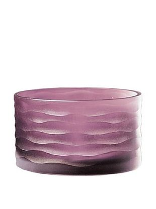 Jozefina Art Glass Kama Bowl, Amethyst