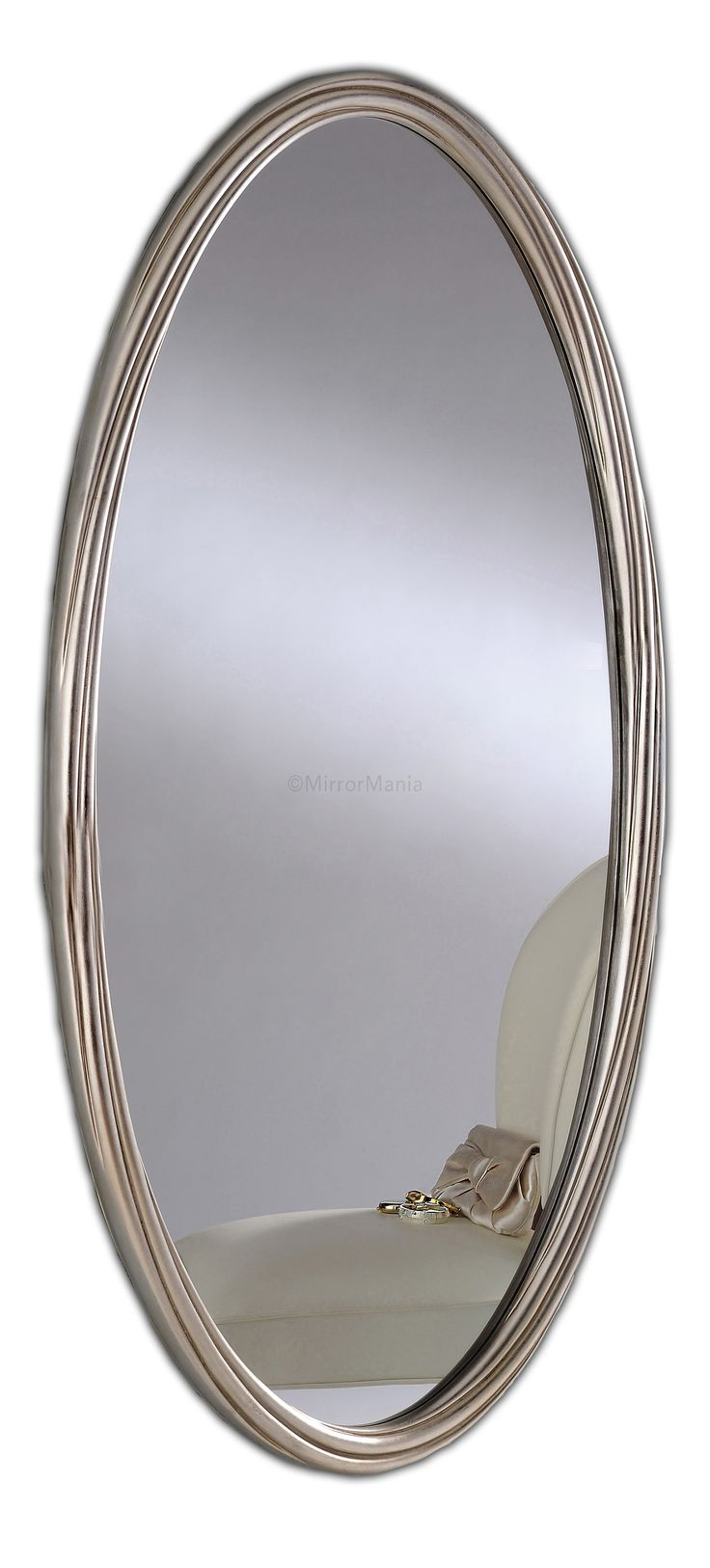 Ramona Swirled Wooden Framed Oval Mirror - All Mirrors - Mirrors
