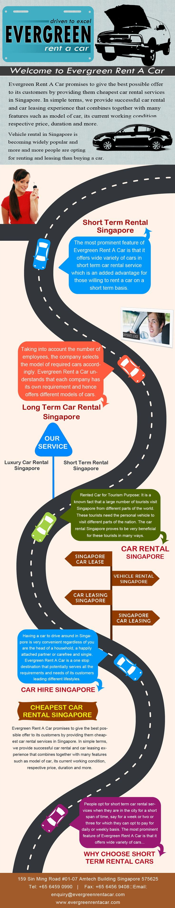 Evergreen Rent A Car provides the the best deal on personal budget car rental and car leasing services in Singapore. Visit us now for car rental at very affordable rates.