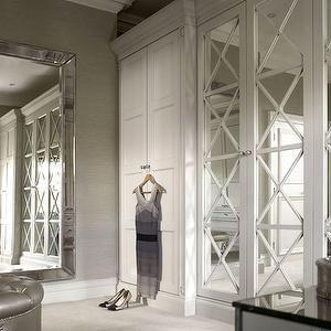 X Mullion Closets, Transitional, closet, The English Wardrobe