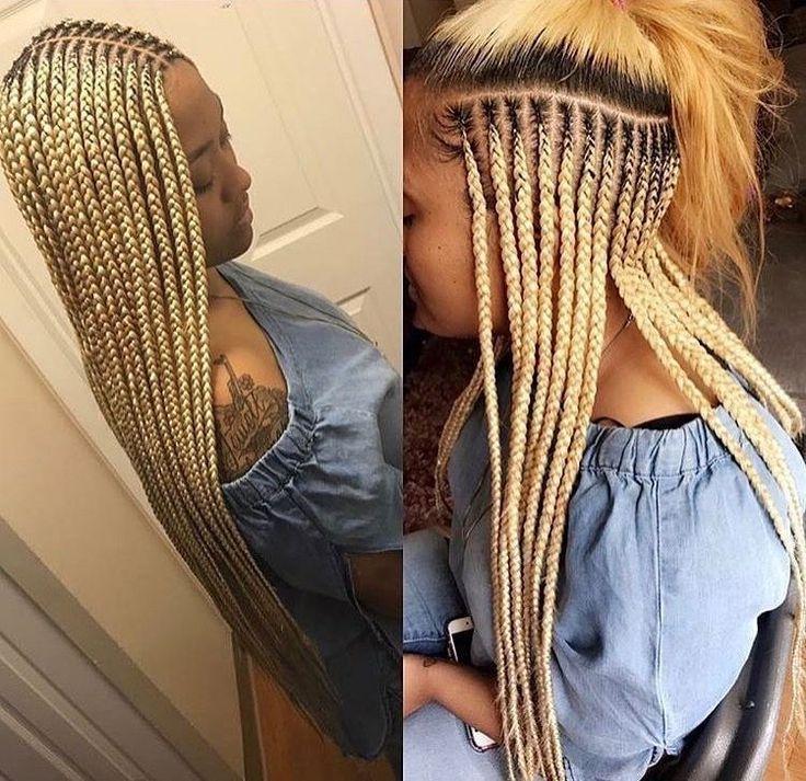 hair braiding hairstyles for black women. Blonde b…
