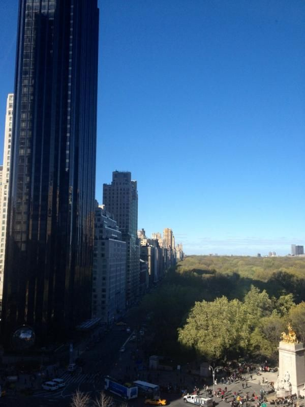 Mika tweet 'Had lunch at MAD with THIS view from the table' April 2012 NYC