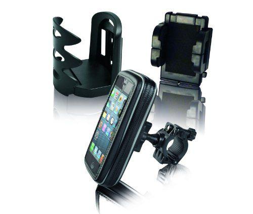 EZE Kaddy - Soporte de manillar de bicicleta para GPS (incluye soporte para bebida y funda protectora), color negro  #GPS