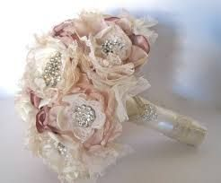 fabric and brooch wedding bouquet - Google Search