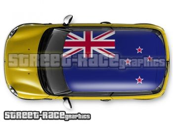 New Zealand flag - printed and laminated (air release) vinyl car roof graphics.