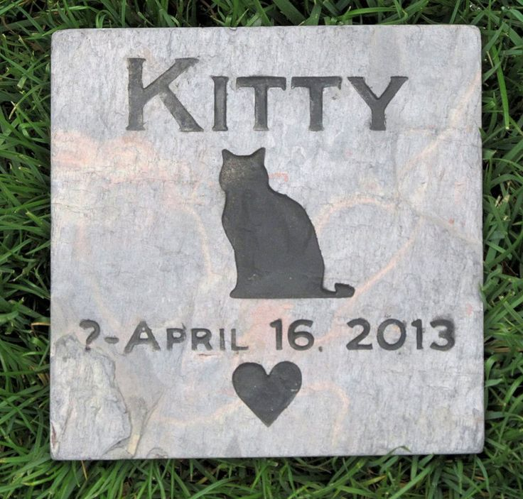 Personalized Cat Memorial Stone Marker Cat Pet Memorial Gravestone 6 x 6 Burial Cemetery Stone Marker #burial_cemetery #cat-garden-memorial #cat-memorial-stone-marker