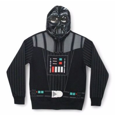 It's the essential Star Wars sweatshirt hoody. Zip up Darth Vader's iconic outfit including face mask. If this doesn't make you want to join the Dark Side, nothing will. #searscanada #starwars