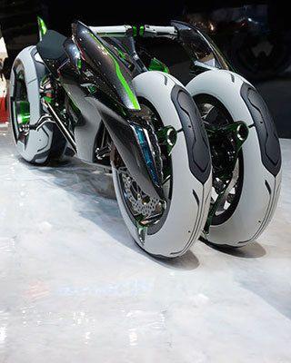 "Kawasaki's Radical Cyberpunk Anime Motorcycle, the ""J vehicle"""