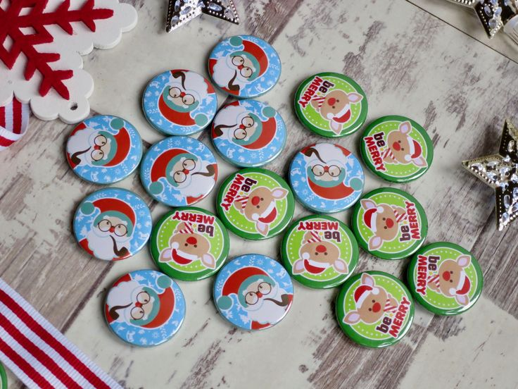 Be Merry Reindeer Badges 🦌 Super cute for Kids Christmas Eve Boxes 🎁 🎅… – Cute Badges