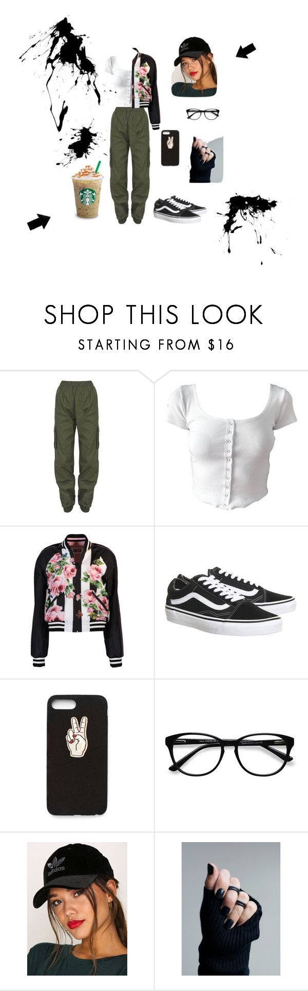 nr. 2 by patriivasca on Polyvore featuring Dolce&Gabbana, Topshop, adidas Originals, Nasty Gal and EyeBuyDirect.com