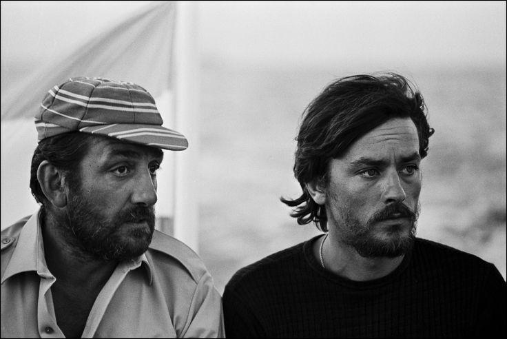 "Lino Ventura and Alain Delon in ""Les Aventuriers"" (1967, Robert Enrico)"