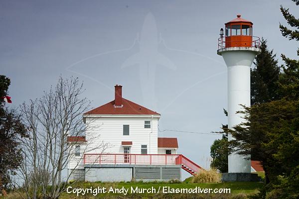 Active Pass Lighthouse, Mayne Island, BC.