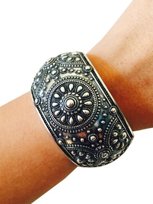 Shop the MELISSA Silver Hinge Bangle Bracelet to stylishly hide your Fitbit Flex or other Fitness Activity Tracker. FREE SHIPPING.