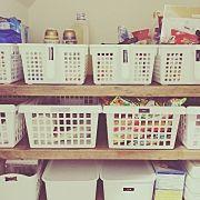My Shelf/パントリー/セリア/壁紙/二階リビング/seria...などのインテリア実例 - 2017-10-25 05:31:14 RoomClip (ルームクリップ)