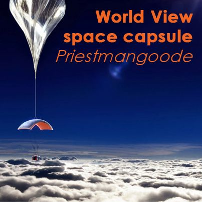 Priestmangoode have revealed plans for a World View capsule that will offer a spectacular human flight into near space.