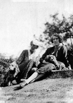 Virginia with Vita, as photographed by Leonard Woolf