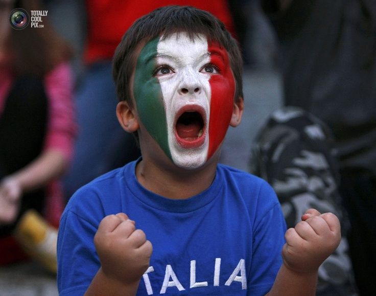 Italy soccer fan celebrates goal during screening of Euro 2012 semi-final soccer match between Germany and Italy at fan zone in Warsaw. KACPER PEMPEL/REUTERS