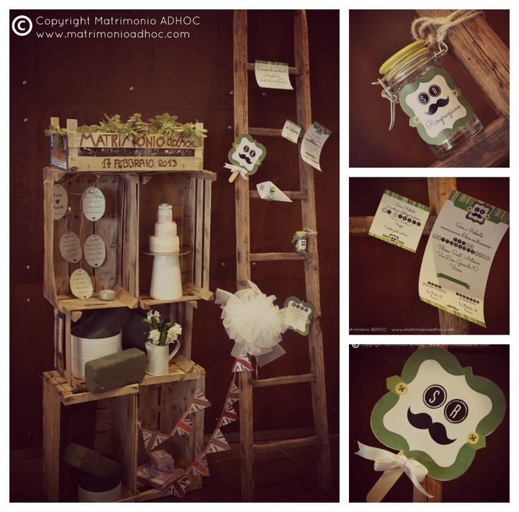 Lo stile eco-friendly - allestimento di Matrimonio ADHOC