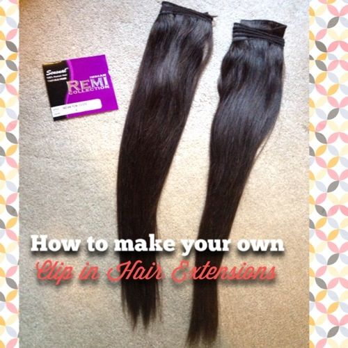 DIY How To Make Your Own Clip In Human Hair Extensions