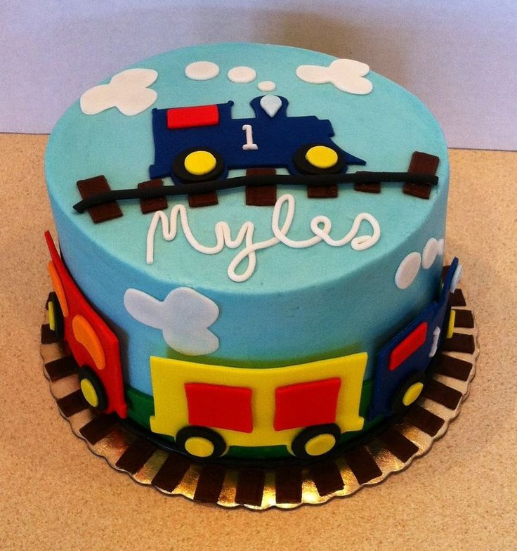 Train cake for little boy