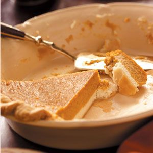 Pumpkin Cream Cheese Pie Recipe from Taste of Home -- shared by Diane Selich of Vassar, Michigan