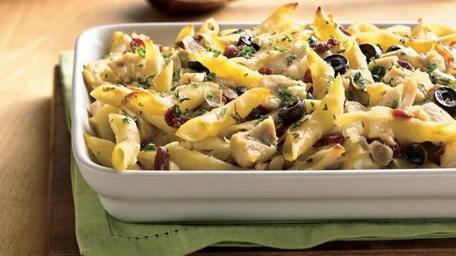 Greek Chicken and Pasta Casserole