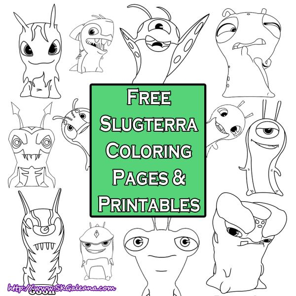 Free Printable Slugterra Coloring pages   SKGaleana #slugterra
