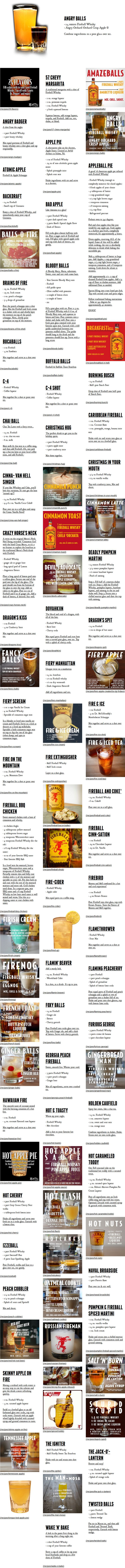 Fireball Whiskey Recipes