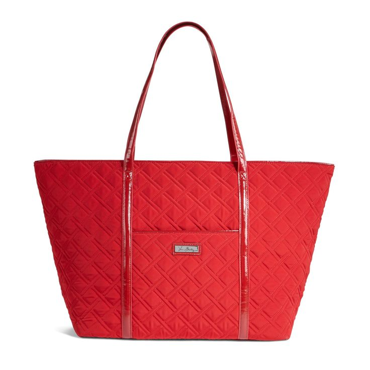 Trimmed Vera Traveler in Tango Red with Red Trim, $128 I Vera Bradley