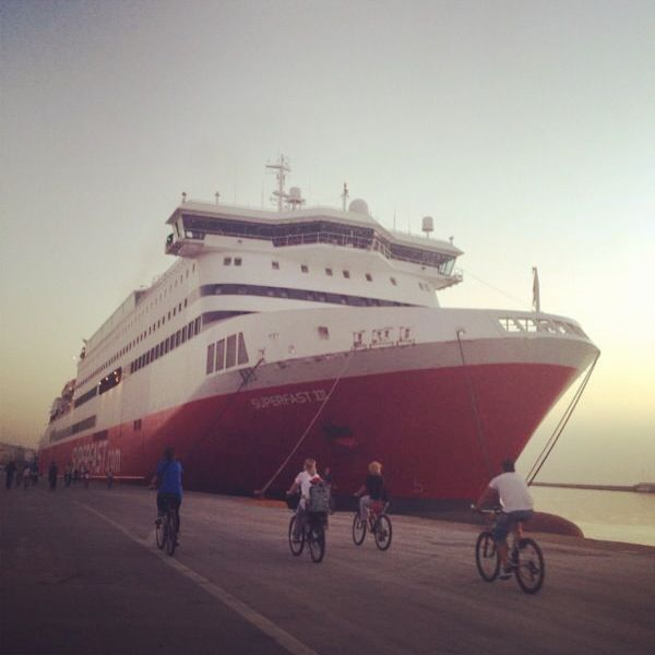 Ride your bike during the sunset.#SuperfastFerries