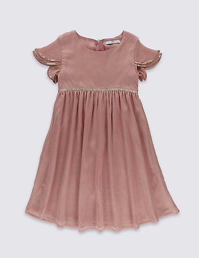 Chiffon Dress (1-14 Years) | M&S